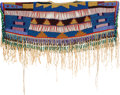 American Indian Art:Beadwork and Quillwork, A PLATEAU BEADED HIDE DRESS YOKE. c. 1900...