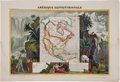 Books:Maps & Atlases, Victor Levasseur. Amérique Septentrionale. A beautifullyhand-colored engraving depicting North America with supplem...