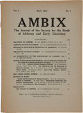 Books:Periodicals, AMBIX. The Journal of the Society for the Study (History)of Alchemy and (Early) Chemistry. Published for the Societ...