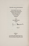 Books:Signed Editions, John Steinbeck. Saint Katy the Virgin. New York: Covici Friede, [1936]. First edition, one of 199 numbered copies ...
