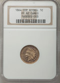 Proof Indian Cents, 1864 1C Copper Nickel PR62 Cameo NGC....