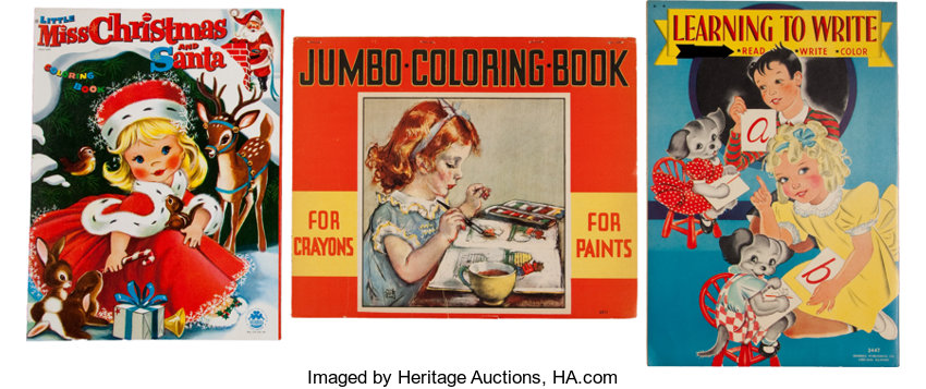 memorabiliamiscellaneous coloring book group whitmanmerrill 1936 58
