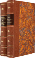 Books:Americana & American History, H. C. Carey. Two First Editions: The Past, the Present, and the Future. 1848. [and:] The Unity of Law. 1... (Total: 2 Items)
