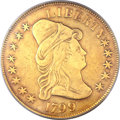 Early Eagles, 1799 $10 Small Stars Obverse VF30 PCGS. Breen-6839, Taraszka-14,BD-2, High R.5....