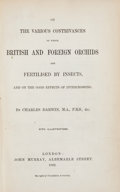 Books:Fine Press & Book Arts, Charles Darwin. On the Various Contrivances by Which British andForeign Orchids are Fertilised by Insects.... L...