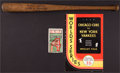 Baseball Collectibles:Tickets, 1932 World Series Lot - Game 4 Stub, Program and Mini Bat....
