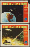 """Movie Posters:Science Fiction, This Island Earth (Universal International, 1955). Lobby Cards (2) (11"""" X 14""""). Science Fiction.. ... (Total: 2 Items)"""