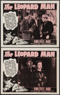 """Movie Posters:Horror, The Leopard Man (RKO, R-1952). Lobby Cards (2) (11"""" X 14""""). Horror.. ... (Total: 2 Items)"""
