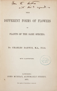Charles Darwin. The Different Forms of Flowers on Plants of the Same Species. London: John Murr
