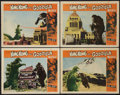 "Movie Posters:Science Fiction, King Kong vs. Godzilla (Universal, 1963). Lobby Cards (4) (11"" X14""). Science Fiction.. ... (Total: 4 Items)"