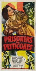"Movie Posters:Exploitation, Prisoners in Petticoats (Republic, 1950). Three Sheet (41"" X 81""). Exploitation.. ..."