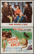 "Movie Posters:Science Fiction, Fiend Without a Face (MGM, 1958). Title Lobby Card and Lobby Card(11"" X 14""). Science Fiction.. ... (Total: 2 Items)"