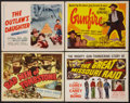 """Movie Posters:Western, Bad Men of Tombstone and Others Lot (Allied Artists, 1949). Title Lobby Cards (4) (11"""" X 14""""). Western.. ... (Total: 4 Items)"""