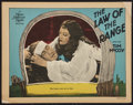 """Movie Posters:Western, The Law of the Range (MGM, 1928). Lobby Card (11"""" X 14""""). Western. ..."""
