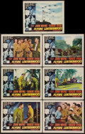"Movie Posters:War, Flying Leathernecks (RKO, 1951). Lobby Cards (7) (11"" X 14""). War..... (Total: 7 Items)"