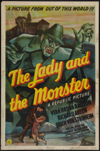"""The Lady and the Monster (Republic, 1944). One Sheet (27"""" X 41""""). Horror"""