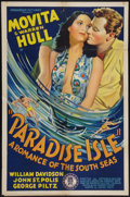 "Movie Posters:Drama, Paradise Isle (Monogram, 1937). One Sheet (27"" X 41""). Drama.. ..."