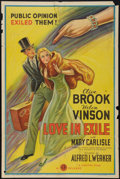 """Movie Posters:Romance, Love in Exile (Gaumont, 1936). One Sheet (27"""" X 41""""). Romance.. ..."""