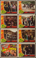 """Movie Posters:Western, Law and Order (Universal, 1940). Lobby Card Set of 8 (11"""" X 14""""). Western.. ... (Total: 8 Items)"""