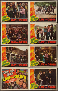 """Law and Order (Universal, 1940). Lobby Card Set of 8 (11"""" X 14""""). Western. ... (Total: 8 Items)"""