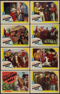 """Movie Posters:Western, Billy the Kid's Fighting Pals (PRC, 1941). Lobby Card Set of 8 (11"""" X 14""""). Western.. ... (Total: 8 Items)"""