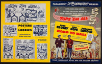 """Road to Bali (Paramount, 1952). Uncut Pressbook (Multiple Pages, 12.75"""" X 15""""). Comedy"""
