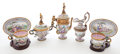Decorative Arts, Continental:Other , VIENNESE ENAMEL AND GILT BRONZE SEVEN PIECE CABINET COFFEE SERVICE. Austria, late 19th century. 8 inches high (20.3 cm) (co...