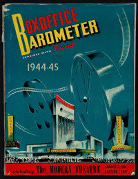 """Boxoffice Barometer Magazine (Associated Publications, 1944-45). Magazine (264 Pages, 9.25"""" X 12.25""""). Miscell..."""