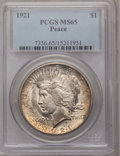 Peace Dollars, 1921 $1 MS65 PCGS....