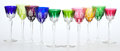 Paintings, TWENTY-FOUR BACCARAT CUT TO CLEAR STEMWARE IN ASSORTED COLORS, TOGETHER WITH SIX ASSOCIATED STEMS . France, 20th century. Ma... (Total: 24 Items)