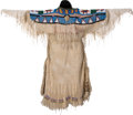 American Indian Art:Beadwork and Quillwork, A PLATEAU BEADED HIDE DRESS. c. 1910...