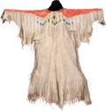 American Indian Art:Beadwork and Quillwork, A PLATEAU BEADED HIDE DRESS. c. 1890...