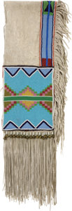 American Indian Art:Beadwork and Quillwork, A PLATEAU BEADED HIDE SADDLE BLANKET . c. 1930...