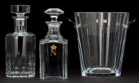 BACCARAT DECANTERS AND CHAMPAGNE BUCKET France, 20th century 10 inches high (25.4 cm) (whiskey decanter) <