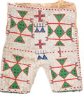 American Indian Art:Beadwork and Quillwork, A PAIR OF SIOUX BEADED HIDE SHORTS. c. 1900...