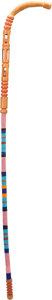 American Indian Art:Beadwork and Quillwork, A PLAINS PAINTED AND BEADED WALKING STICK. c. 1910...