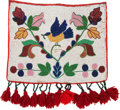 American Indian Art:Beadwork and Quillwork, A CHIPPEWA PICTORIAL BEADED HIDE PANEL. c. 1910...