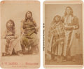 American Indian Art:Photographs, TWO UTE BRAVES and PAIUTE COUPLE. c. 1880. ... (Total: 2 Items)