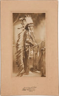 American Indian Art:Photographs, CHIEF ED LE CLAIR . c. 1900 ...