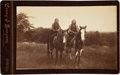 American Indian Art:Photographs, TWO KIOWA BRAVES ON HORSEBACK. c. 1890...