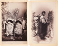 American Indian Art:Photographs, APACHE INFANTS and NAVAJO WOMAN AND BABY. c. 1890 ... (Total: 2Items)