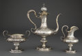 Silver Holloware, American:Coffee Pots, A DOMINICK & HAFF THREE-PIECE SILVER COFFEE SET . Dominick& Haff, New York, New York, circa 1902 . Marks:(square-circle-d... (Total: 3 Items)