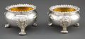 Silver Holloware, British:Holloware, A PAIR OF CRADDOCK & REID GEORGE IV SILVER AND SILVER GILT OPENSALTS . Joseph Craddock & William Reid, London, England, cir...(Total: 2 Items)