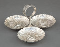 Silver Holloware, American:Bowls, A KIRK SILVER THREE BOWL CONDIMENT SERVER . S. Kirk & Son Inc.,Baltimore, Maryland, circa 1932-1961. Marks: S. Kirk &Son...