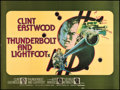 "Movie Posters:Crime, Thunderbolt and Lightfoot (United Artists, 1974). British Quad (30""X 40""). Crime.. ..."