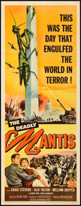 """Movie Posters:Science Fiction, The Deadly Mantis (Universal International, 1957). Insert (14"""" X36""""). Science Fiction.. ..."""