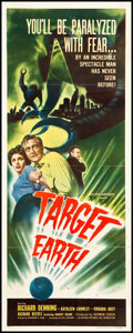 """Movie Posters:Science Fiction, Target Earth (Allied Artists, 1954). Insert (14"""" X 36""""). Science Fiction.. ..."""
