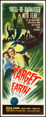 """Target Earth (Allied Artists, 1954). Insert (14"""" X 36""""). Science Fiction"""