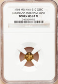 Expositions and Fairs, 1904 1/4 Louisiana Gold MS67 Prooflike NGC. Hendershott-61-310....