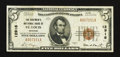 National Bank Notes:Missouri, Saint Louis, MO - $5 1929 Ty. 1 The Boatmen's NB Ch. # 12916. ...